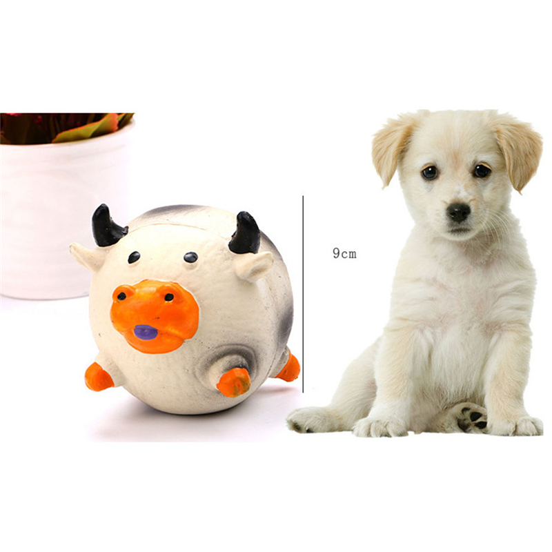 Cute Pet Dog Puppy Latex Squeak Chew Bite Teech Cleaning Paly Toy Squeaky Sound Pet Products