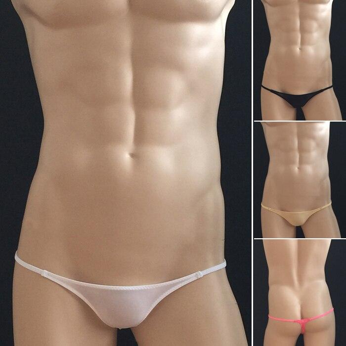 DemüTigen Mini Herren Sexy Thongs Low Rise Sexy Männer G-strings Elastische Ice Silk Männer Erotik Underwear Nahtlose Exotische Homosexuell Männer Tanga