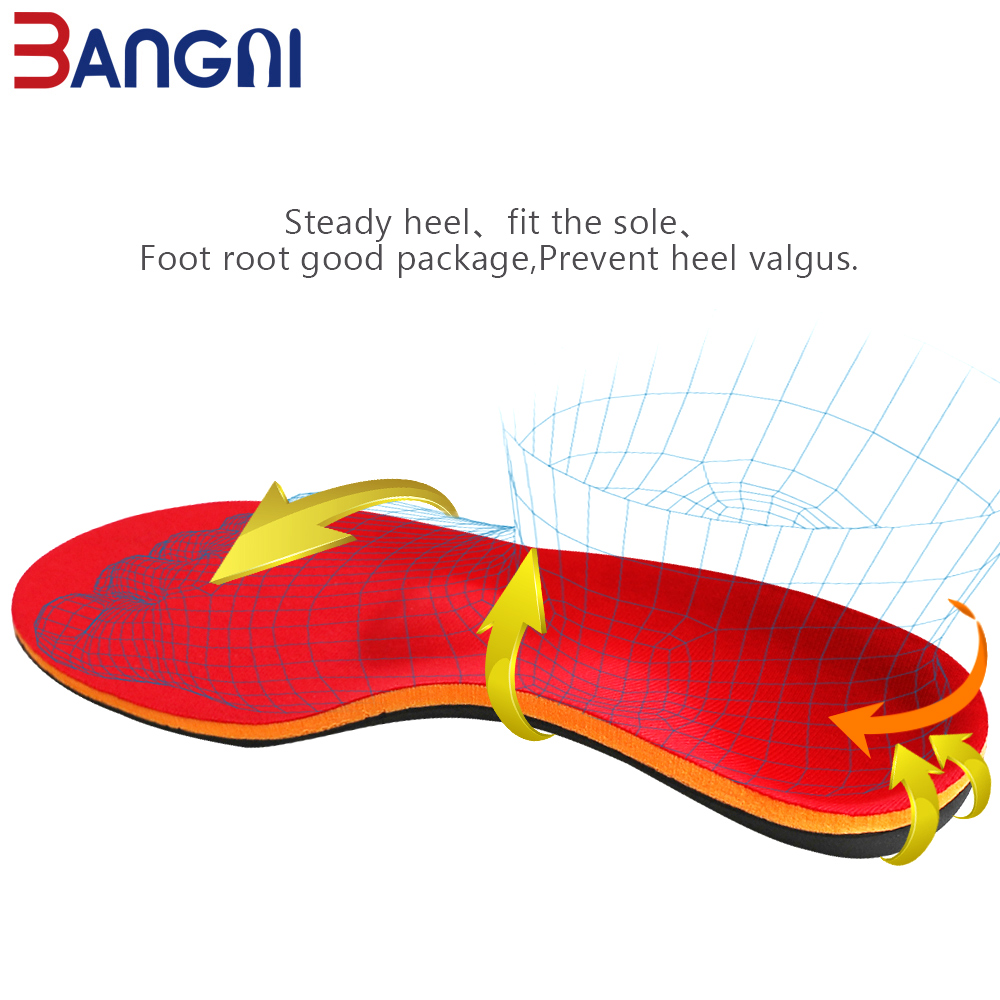 Image 4 - 3ANGNI Orthotic Shoe Insoles Arch Support Insert Orthopedic Moderate Flat Feet Heel Pain Plantar Fasciitis Men Woman Shoes SoleInsoles   -