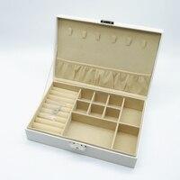 תכשיטים יצירתי קופסא לאחסון איפור קוסמטיקה יופי מארגן ארון מיכל לבן טבעת עגילי שרשרת מתנת יום הולדת