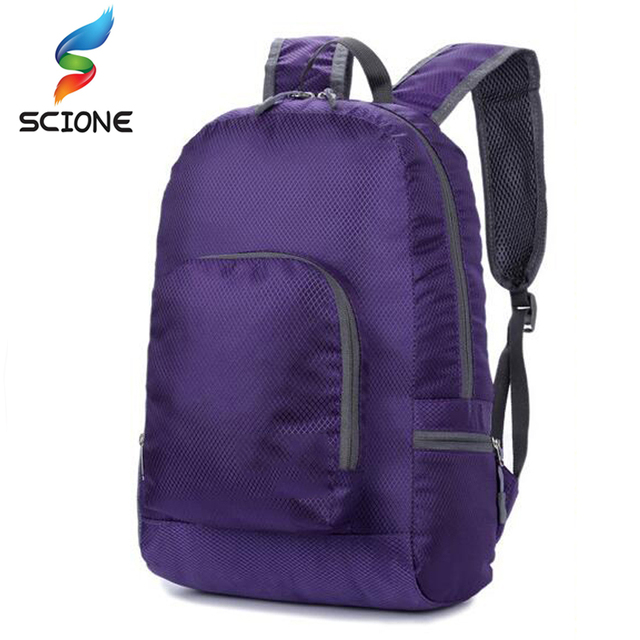 8f6574027b Hot Outdoor Portable Foldable School backpack ultra light Travel Bagpack  Waterproof Nylon Knapsack Rucksack Yoga Backpack
