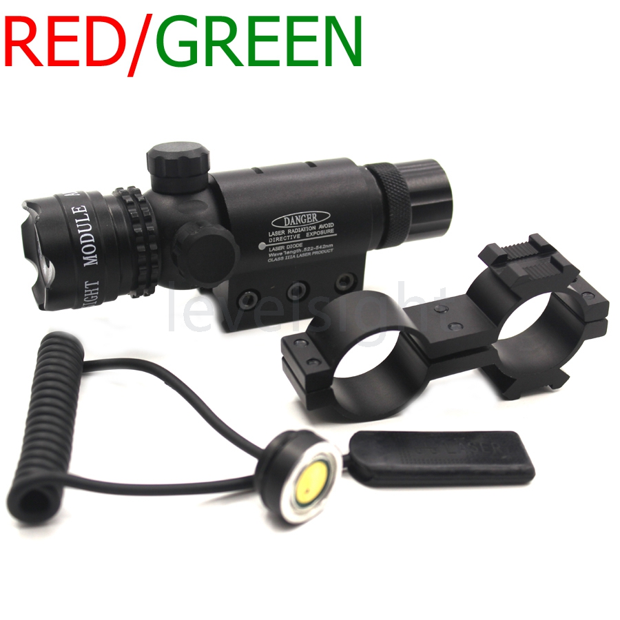 Tactical Red / Green Laser Sight Dot Laser Designator Emitter Laser Scope Shooting Long Distance Sport Hunting цена и фото