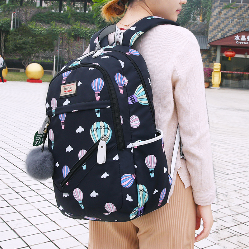 fashion printing teenage girls children student school bag High capacity women backpack travel bag laptop pack bagpacks 2019(China)