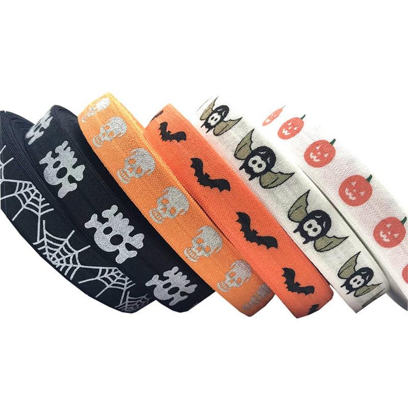 "5Yards 7~8/""Halloween Grosgrain Ribbon Craft Spider Pumpkin multiple Party Decor"