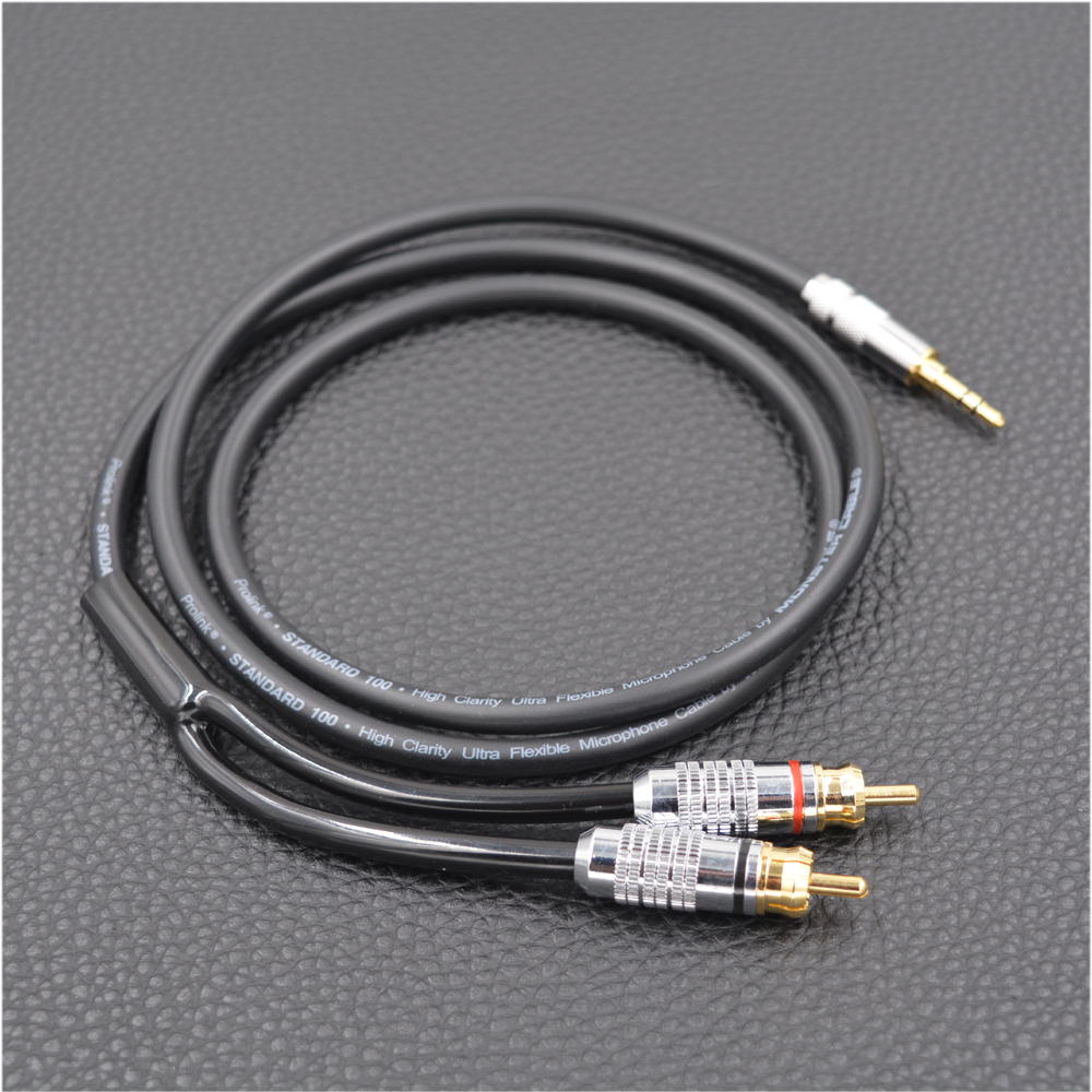 MonsterProlink Standard 100 Audio Cable Stereo 3.5mm to 2RCA for MP3 CD DVD TV, Audiophile cable Free Shipping