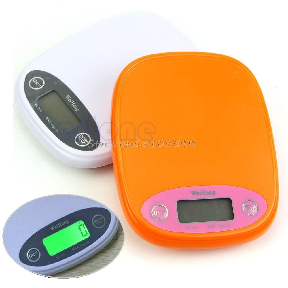 Scale Kitchen Digital 7Kg/1g 5kg Diet Food Postal Weight Balance g lb Backlight Drop Ship