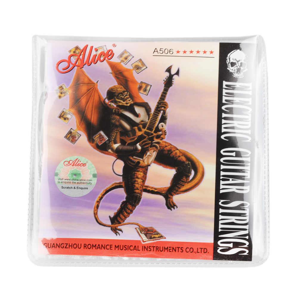 אליס גיטרה חשמלית מיתרי 008 כדי 038 אינץ מצופה פלדה מצופה ניקל סגסוגת פצע A506 15