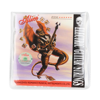 Alice Electric Guitar Strings 008 to 038 inch Plated Steel Coated Nickel Alloy Wound A506 15 electric guitar strings 008 to 038 inch plated steel coated nickel alloy wound alice a506
