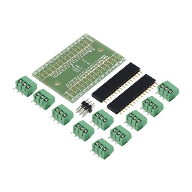 Azul Placa de Expansão do Terminal Adaptador DIY Kits para Arduino NANO IO Escudo V1.0 Aplicação NA Calculadora