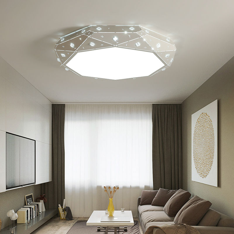 modern ceiling light new design kristal acrylic brief living room light deckenleuchten luces del techo bedroom led ceiling lamp noosion modern led ceiling lamp for bedroom room black and white color with crystal plafon techo iluminacion lustre de plafond