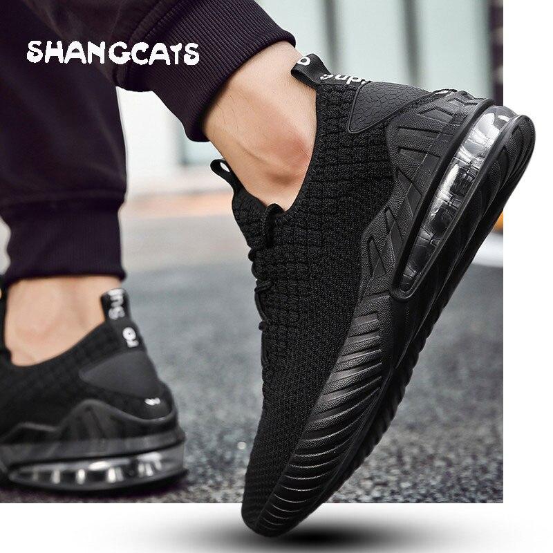 2018 Hiver chaussures hommes Mesh Respirant Hommes Chaussures Casual Sneakers Homme Chaussures zapato de hombre noir espadrilles occasionnelles sans dentelle