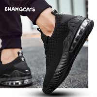 2018 Winter shoes men Mesh Breathable Mens Shoes Casual Sneakers Male Shoes zapato de hombre black casual sneakers without lace
