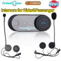 Free shipping! Newest FDC Bluetooth Motorcycle Helmet Intercom Handsfree Headset for motorbike Rider&Pillion passenger