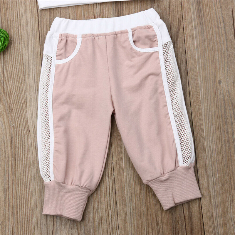Summer 2pcs Outfits 2019 Pudcoco Newborn Infant Baby Girl Clothes Crop Tops Vest Long Pants Tracksuits baby girl Clothing 4