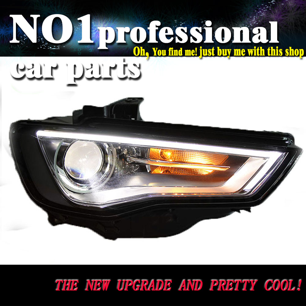 Car Styling Head Lamp 2014 2015 for AUDI A3 LED Headlight for A3 DRL Daytime Running Light Bi Xenon HID Accessories