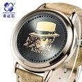 Detective Conan reloj 2016 MARCA Xingyunshi reloj de Cuero de los hombres reloj deportivo reloj de pulsera digital LED Reloj Militar Relojes Relogio