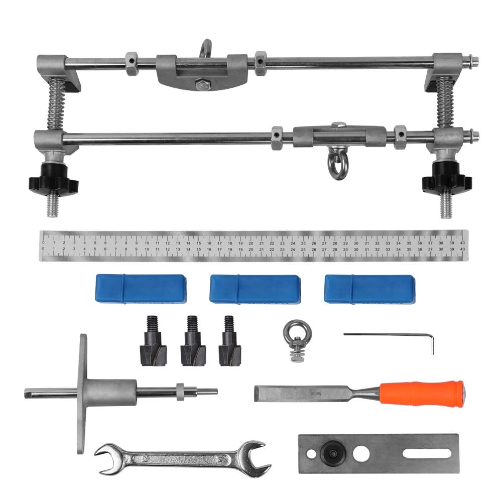 Serrurier professionnel menuiserie serrure de porte mortaiseuse Kit trou scie ouvre Installation mortaisage gabarit outil ensemble d'entretien