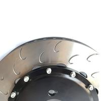 Jekit Big brake rotors 380*34mmm J hook disc with center bell for 6 pots brake calipers for chrysler 300c/vw tiguan/passat cc
