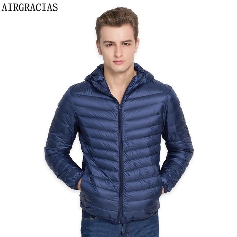 AIRGRACIAS Brand White Duck   Down   Jacket Men Autumn Winter Warm   Coat   Men's Ultralight Duck   Down   Jacket Male Windproof Parka