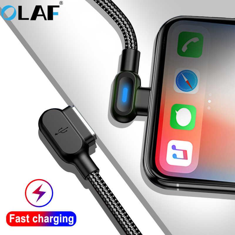OLAF 90 Gradi Micro USB Tipo di Cavo C Per Samsung S7 S8 S9 Xiaomi Huawei USB-C Veloce di Carico di Dati USB cavo Per iphone 7 8 X Xs