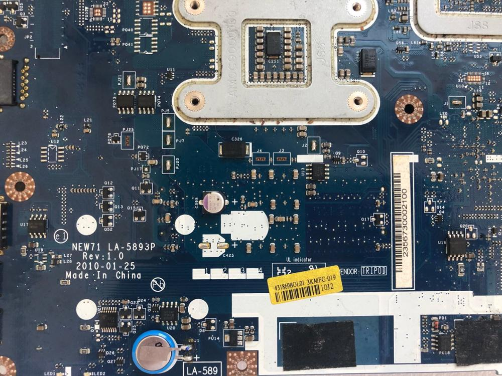 Para acer LA-5893P 5740 5741 5742G 5741 5742G материнская плата ноутбука HM55 1 ГБ GT320M DDR3 totalmente testado