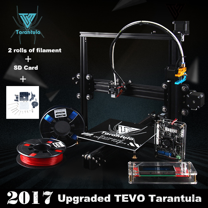 2017 New TEVO Tarantula 3D Printer Impresora 3D Aluminium Extrusion Impresora 3D DIY SD Card Titan extruder Filament LCD As Gift 55ml aluminium sub tank printer part