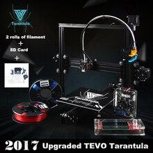 Tevo Тарантул impresora 3D алюминиевого профиля 3D-принтеры impresora 3D DIY sd-карта Titan экструдер 2 рулона нити ЖК-дисплей как подарок