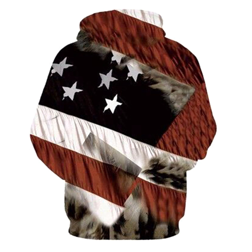 Hot Sale 3D Printed Hoodies Men Sweatshirt Fashion American Flag Hooded Sweats Tops Hip Hop Unisex Graphic Pullover Tracksuits