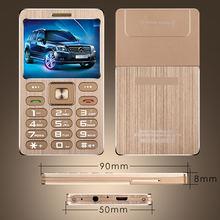 A10 Telefon Mit Super Mini Ultradünne Karte Luxus MP3 Bluetooth 1,77 zoll Staubdicht Stoßfest telefon H-mobile A10