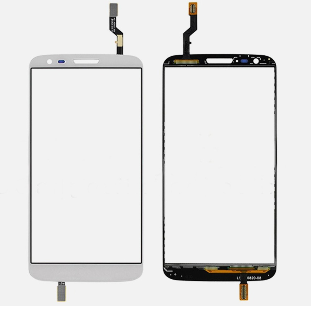 White Glass Panel Touch Screen Digitizer Replacement For LG G2 D802 D805