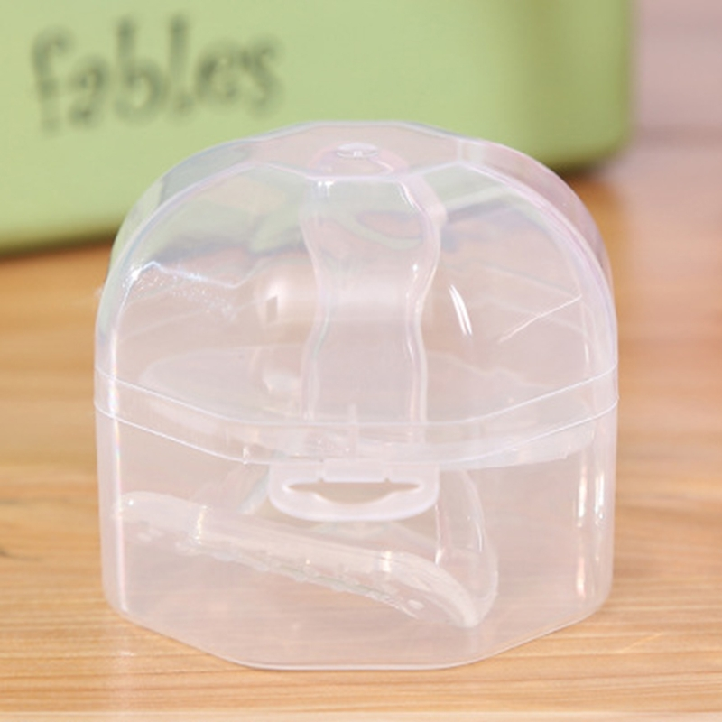 Portable Baby Infant Pacifier Nipple Cradle Case Holder Storage Box Clear Travel