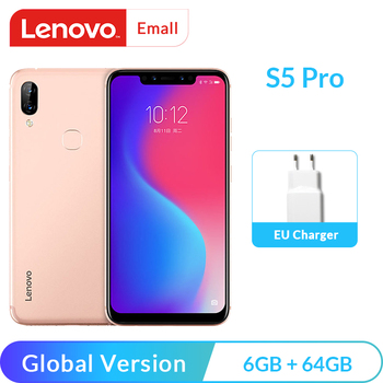 Global Version Lenovo S5 Pro 6GB 64GB Notch Screen Mobile Phone 20MP Four-cams 6.2inch 8-core 4G LTE Unlocked Smartphone Lenovo Phones