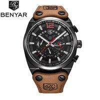 2017 BENYAR Chronograph Sport Mens Watches Men Fashion Brand Military Waterproof Quartz Watch Man Dress Clock