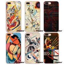 Wassily Kandinsky Abstraite Artistique Souple étui pour iphone X 4 4 S 5 5C SE 6 6 S 7 8 Plus Samsung Galaxy J1 J3 J5 J7 A3 A5 2016 2017(China)