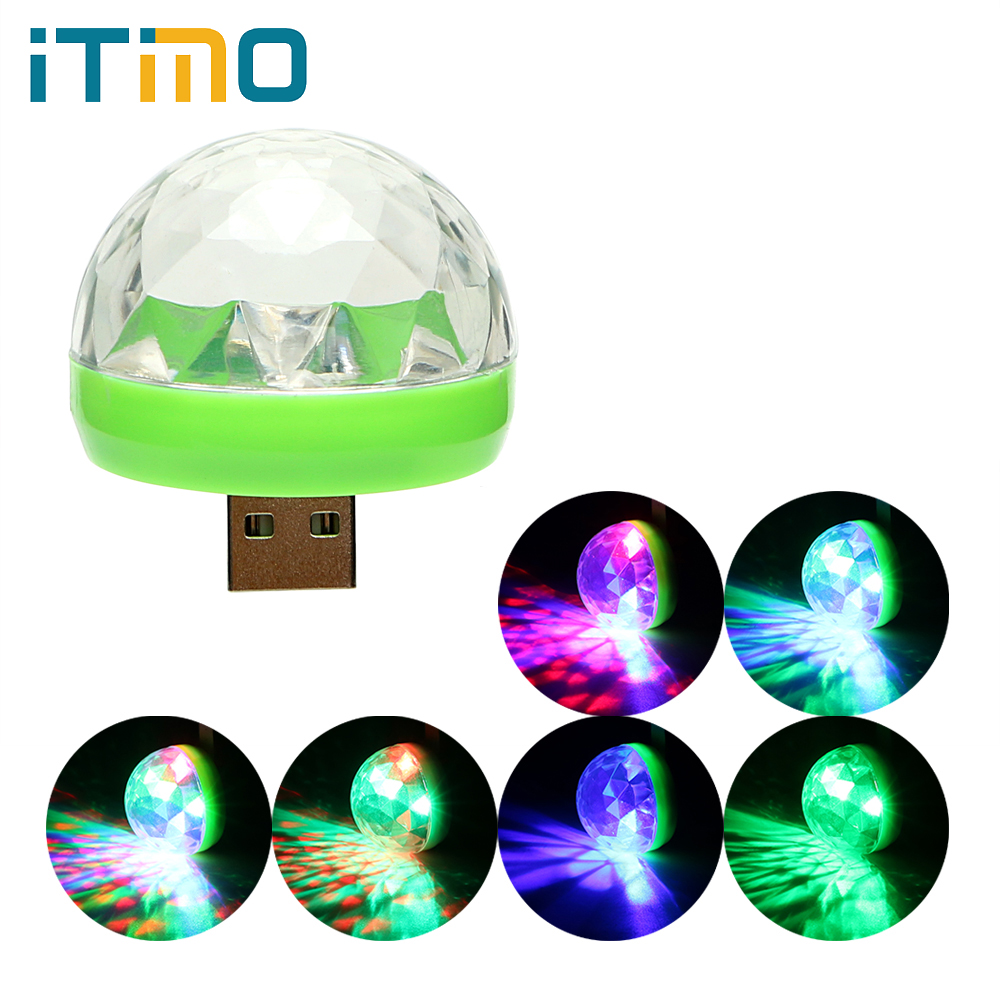 ITimo USB Mini Colorful Neon Light Color Change RGB Ball Lamp LED Disco DJ Stage Karaoke Microphone Portable Stage Party Light