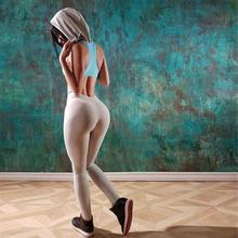 Women Yoga Set Fitness Print Bra+Pants Leggings Set Gym Workout Clothing Sportswear Running Slim Tracksuit Gray S M L