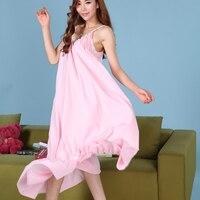 Fashion 100% cotton white spaghetti strap sexy nightgown royal princess ultra long skirt plus size sleepwear lounge