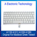 "Original A1150 A1211 A1226 A1260 Laptop Greek Greece Version Keyboard For Macbook Pro Retina 15"" 15.4"" Replacement Tested"