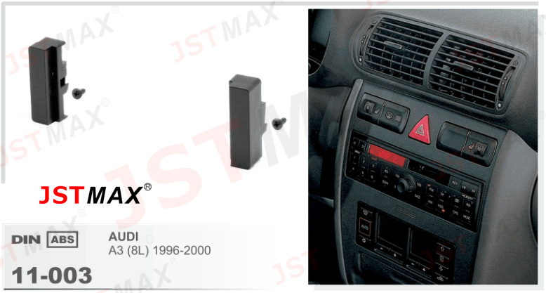 Jstmax car fascia panel frame for audi a3 8l 1996 2000 for Mueble 2 din audi a3