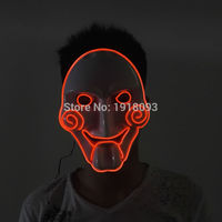 10Colors Select Battery Powered EL Wire Mask Trendy Flashing Chainsaw LED Mask as Novelty Lighting of Evening Party