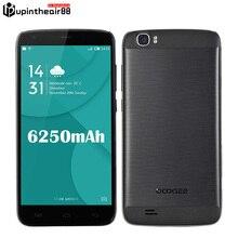 "Original doogee t6 pro 6250 mah teléfono móvil 4g lte 5.5 ""Android 6.0 MT6753 Octa Core 3 GB de RAM 32 GB ROM 13MP 1280*720 Soporte OTG"