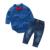 2 pcs Xadrez Roupas de Bebê Menino Cavalheiro Macacão de Manga Comprida + Calças Atender Crianças Roupas Menino Definir a Roupa Dos Miúdos