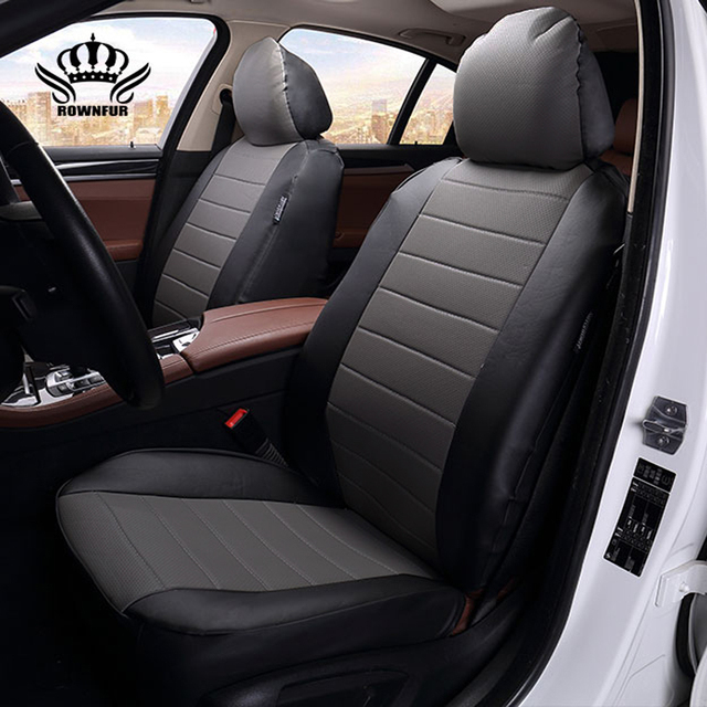 Rownfur Luxury Car Seat Cover Universal Pu Leather Auto Seat Covers