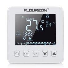 Floureon подогрев пола термостат 16A цифровой ЖК сенсорный экран комнатный регулятор температуры с подсветкой