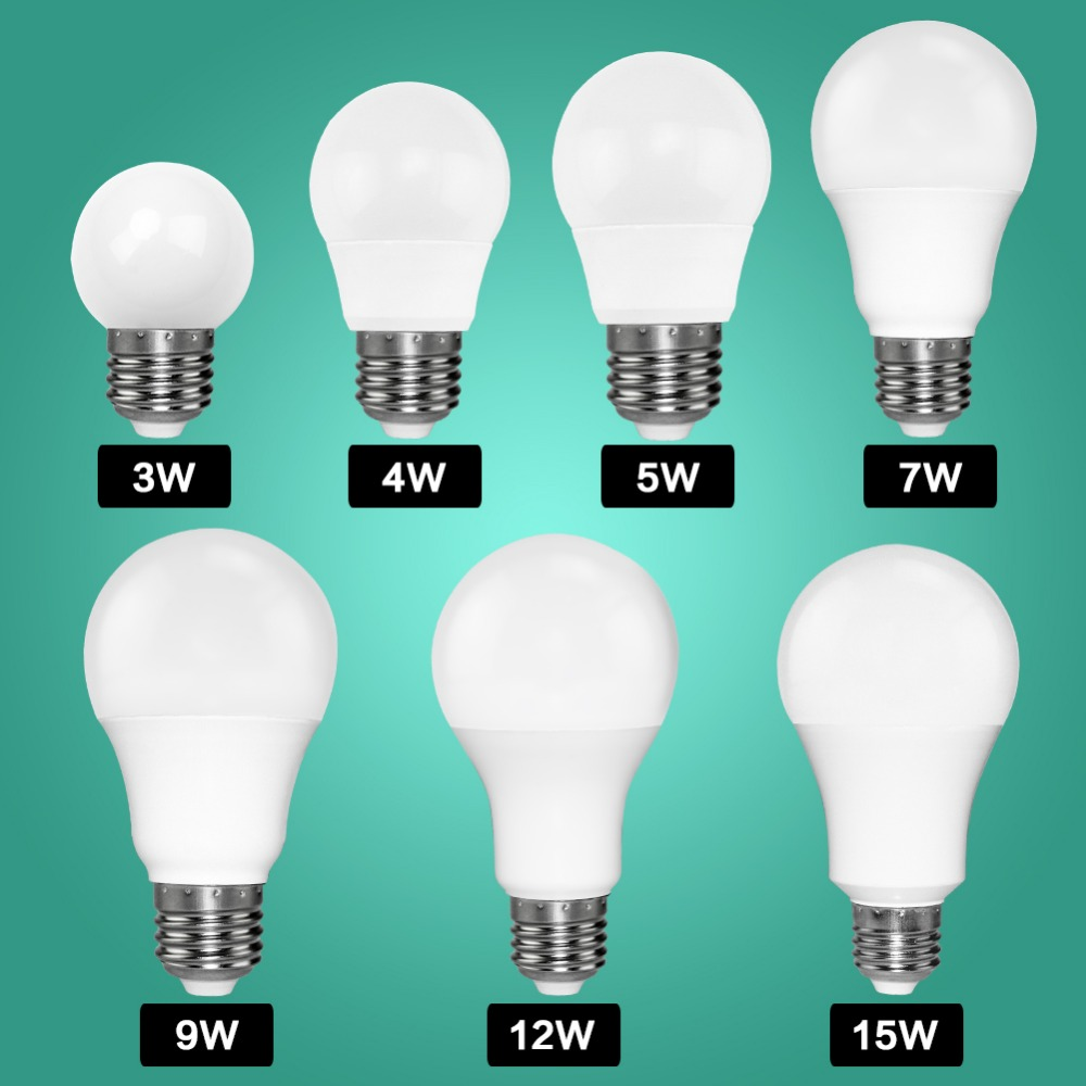 Led Bulb E27 E14 Bombillas Lamp Spotlight Light Lampada Diode cfl Ampoule SMD 2835 3W 5W 9W 220V 110V Home Decor Energy Saving 15 w e27 cool white 15leds 1w highpower led energy saving cfl bulb lamp spotlight 220v 240v