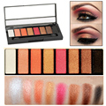 High Pigment 8 Colors Warm Palettes Shimmer Eye Shadow Palette Eyeshadow Makeup LML035