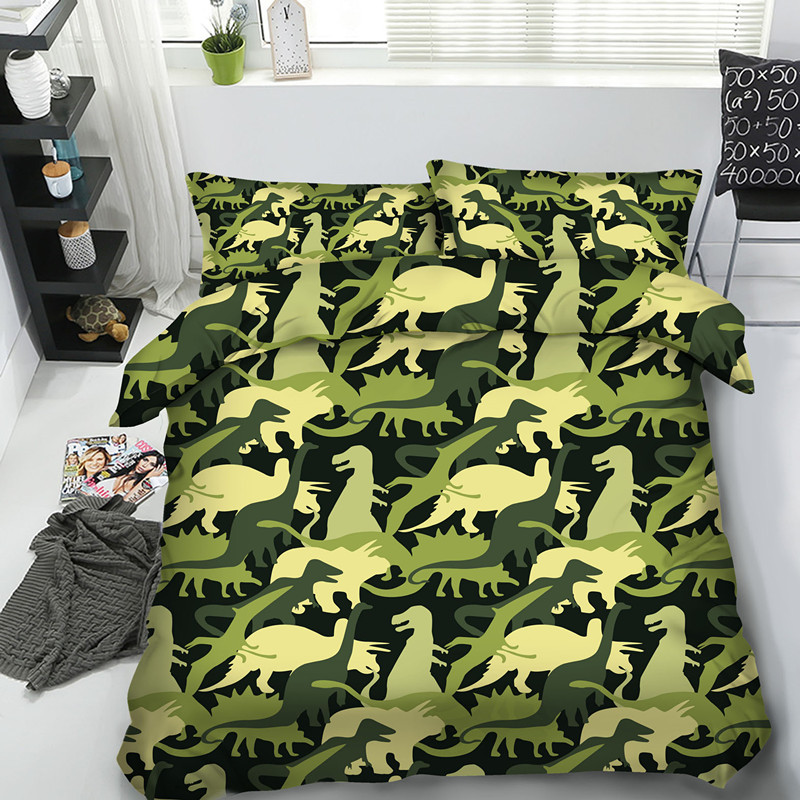 Fanaijia high quality 3d dinosaur Bedding Set queen size Cartoon Quilt Cover set with pillowcase Bedline best gift Home textileFanaijia high quality 3d dinosaur Bedding Set queen size Cartoon Quilt Cover set with pillowcase Bedline best gift Home textile