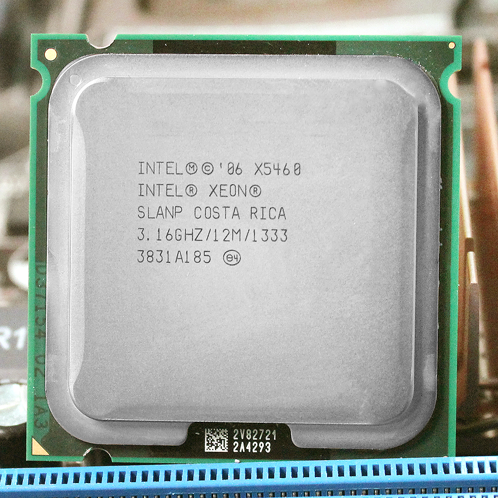 INTEL xeon X5460 LGA 775 Processore (3.16 GHz/12 MB/1333 MHz/LGA771) 771 a 775 CPU funziona su 775 scheda madre garanzia 1 anno
