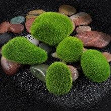 Синтетическая смола зеленый мох шар 3 размера Marimo аквариумное растение Cladophora подводный аквариум орнамент