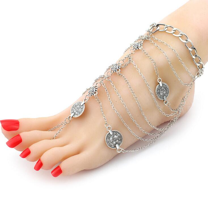 Fashion Jewelry Usa Women Gold Barefoot Ankle Chain Anklet Bracelet Foot Jewelry Sandal Beach Online Discount